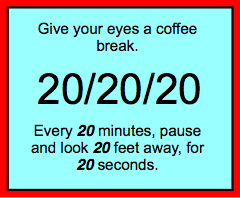 Give your eyes a break